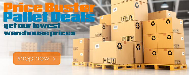 wholesale pallet deals price busters lowest prices