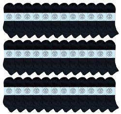 36 of Yacht & Smith Men's Cotton Quarter Ankle Sport Socks Size 10-13 Solid Black