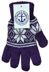 120 of Yacht & Smith Snowflake Print Womens Winter Gloves With Stretch Cuff