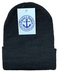 144 of Yacht & Smith Unisex Winter Warm Beanie Hats In Solid Black