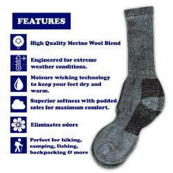 4 of Yacht & Smith Womens Terry Lined Merino Wool Thermal Boot Socks