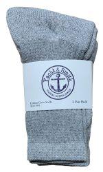 48 of Yacht & Smith Kids Cotton Crew Socks Gray Size 6-8