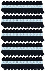 60 of Yacht & Smith Kids Cotton Quarter Ankle Socks In Black Size 4-6