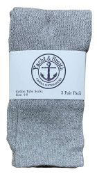 24 of Yacht & Smith Kids Gray Solid Tube Socks Size 4-6