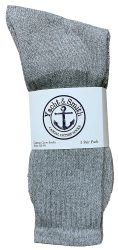 240 of Yacht & Smith Kids Cotton Crew Socks Gray Size 4-6
