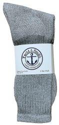 120 of Yacht & Smith Kids Cotton Crew Socks Gray Size 4-6
