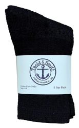 72 of Yacht & Smith Kids Cotton Crew Socks Black Size 4-6