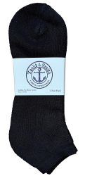 12 of Yacht & Smith Men's Cotton No Show Ankle Socks King Size 13-16 Black