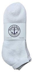 48 of Yacht & Smith Men's Cotton No Show Sport Socks King Size 13-16 White
