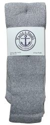 24 of Yacht & Smith Men's Cotton 28 Inch Tube Socks, Referee Style, Size 10-13 Solid Gray