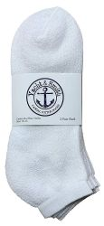 24 of Yacht & Smith Men's Cotton Terry Cushioned No Show Ankle Socks, Size 10-13 White