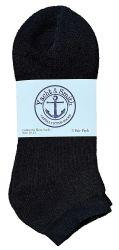 48 of Yacht & Smith Men's No Show Ankle Socks, Cotton. Size 10-13 Black