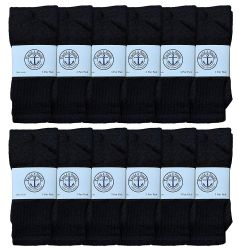 12 of Yacht & Smith 28 Inch Men's Long Tube Socks, Black Cotton Tube Socks Size 10-13