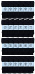 24 of Yacht & Smith 28 Inch Men's Long Tube Socks, Black Cotton Tube Socks Size 10-13