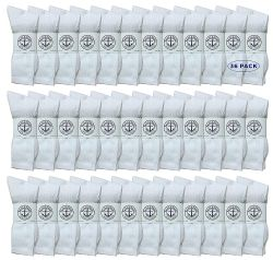36 of Yacht & Smith Women's Cotton Crew Socks White Size 9-11