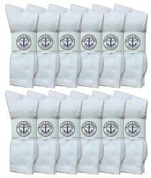 12 of Yacht & Smith Women's Cotton Crew Socks White Size 9-11