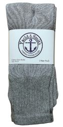 48 of Yacht & Smith Women's Cotton Tube Socks, Referee Style, Size 9-15 Solid Gray