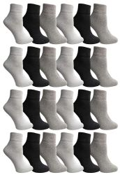 24 of Yacht & Smith Wholesale Bulk Womens Mid Ankle Socks, Cotton Sport Athletic Socks - Assorted, 24 Pairs