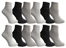 12 of Yacht & Smith Wholesale Bulk Womens Mid Ankle Socks, Cotton Sport Athletic Socks - Assorted, 12 Pairs