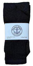 72 of Yacht & Smith Kids Solid Tube Socks Size 6-8 Black