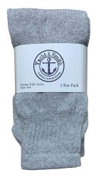 48 of Yacht & Smith Kids Solid Tube Socks Size 6-8 Gray