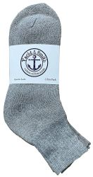 240 of Yacht & Smith Kids Cotton Quarter Ankle Socks In Gray Size 6-8
