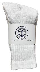 72 of Yacht & Smith Kids Cotton Crew Socks White Size 4-6