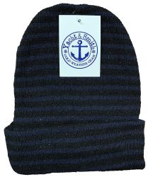 144 of Yacht & Smith Unisex Knit Winter Hat With Stripes Assorted Colors
