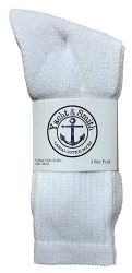 120 of Yacht & Smith Men's Cotton Crew Socks White Size 10-13