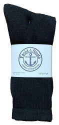 72 of Yacht & Smith Men's Cotton Crew Socks Black Size 10-13