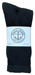 48 of Yacht & Smith Men's Cotton Crew Socks Black Size 10-13