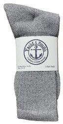 72 of Yacht & Smith Mens Wholesale Bulk Cotton Socks, Athletic Sport Socks Shoe Size 8-12 (gray, 72)