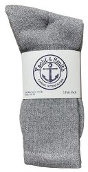 48 of Yacht & Smith Mens Wholesale Bulk Cotton Socks, Athletic Sport Socks Shoe Size 8-12 (gray, 48)