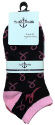 60 of Yacht & Smith Pink Ribbon Breast Cancer Awareness Crew Socks For Women Bulk Pack