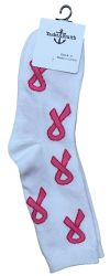 12 of Pink Ribbon Breast Cancer Awareness Crew Socks For Women