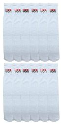 12 of Yacht & Smith King Size Men's 31 Inch Terry Cushion Cotton Extra Long USA Tube Socks- Size 13-16