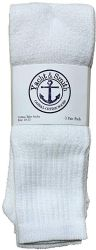 60 of Yacht & Smith Men's 32 Inch Cotton King Size Extra Long White Tube SockS- Size 13-16