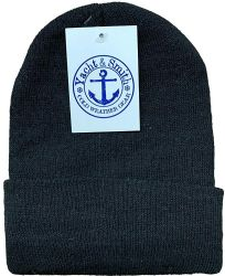 48 of Yacht & Smith Unisex Winter Warm Beanie Hats In Solid Black
