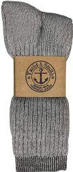 12 of Yacht & Smith Wholesale Bulk Merino Wool Thermal Boot Socks (mens/assorted, 12)