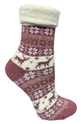 24 of Yacht & Smith Womens Thick Soft Knit Wool Warm Winter Crew Socks, Patterned Lambswool, FAIR ISLE PRINT