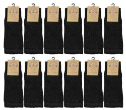96 of Yacht & Smith Slouch Socks For Women, Solid Black Size 9-11 - Womens Crew Sock