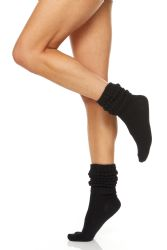24 of Yacht & Smith Slouch Socks For Women, Solid Black Size 9-11 - Womens Crew Sock
