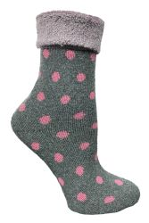 60 of Yacht & Smith Womens Thick Soft Knit Wool Warm Winter Crew Socks, Patterned Lambswool, POLKA DOT