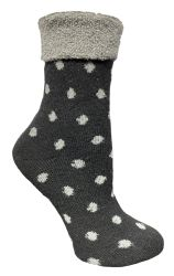 72 of Yacht & Smith Womens Thick Soft Knit Wool Warm Winter Crew Socks, Patterned Lambswool, POLKA DOT