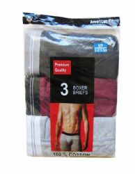 60 of Yacht & Smith Mens 100% Cotton Boxer Brief Assorted Colors Size Large