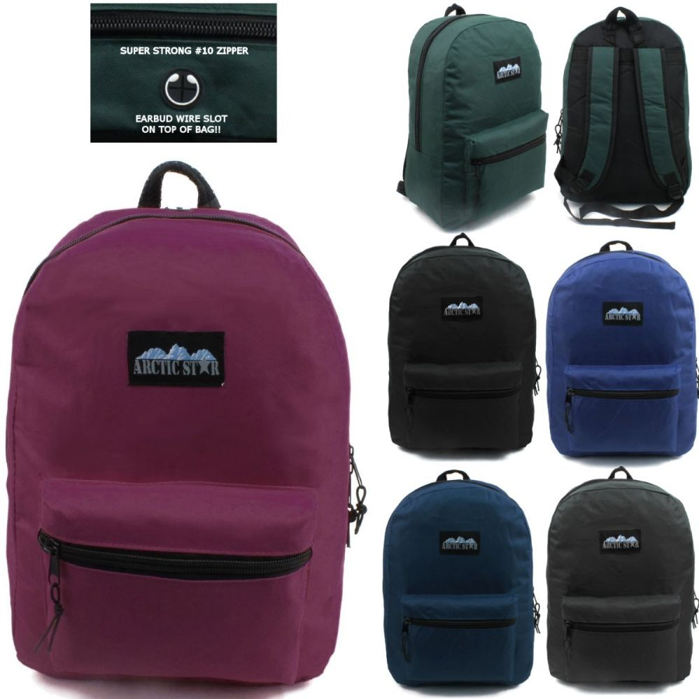 24 of ARCTIC STAR 17 INCH BACKPACK ASSORTED COLORS  c2d3d7ccbd575