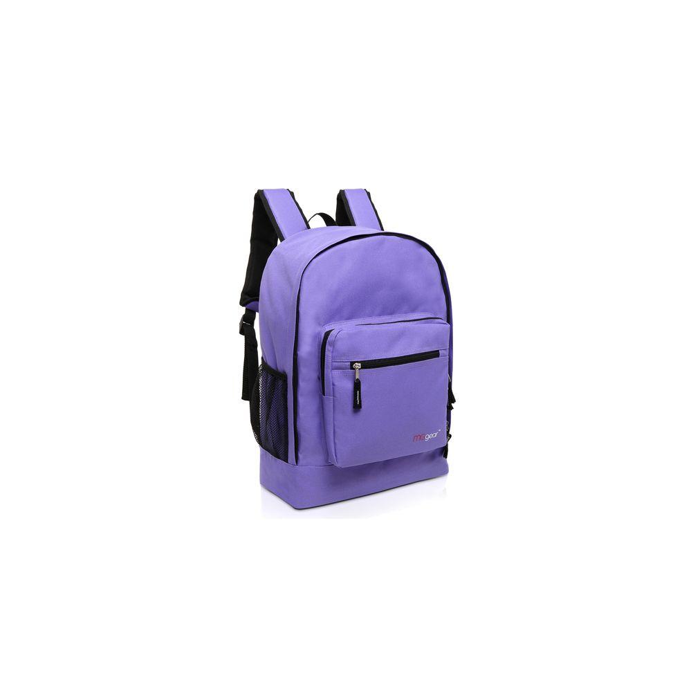 20 Of Mggear 17 5 Inch Multi Pocket School Book Bags In Bulk Purple