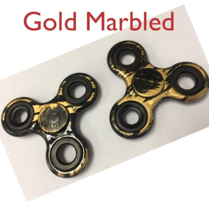 20 Of Fidget Spinner Black With Gold Marble