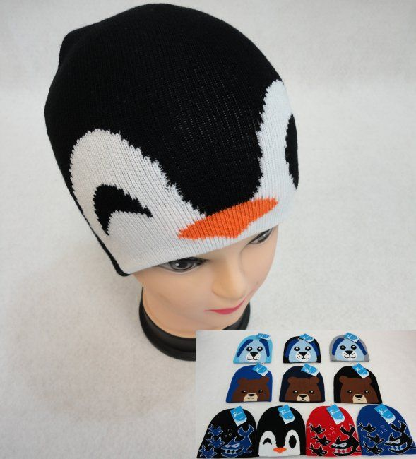 740f5aa6c7f26 36 of Child s Knit Hat  Dog Bear Shark Penguin