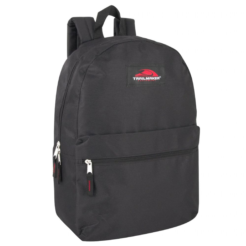 24 of Trailmaker Classic 17 Inch Backpack - Black  55d37193ba652